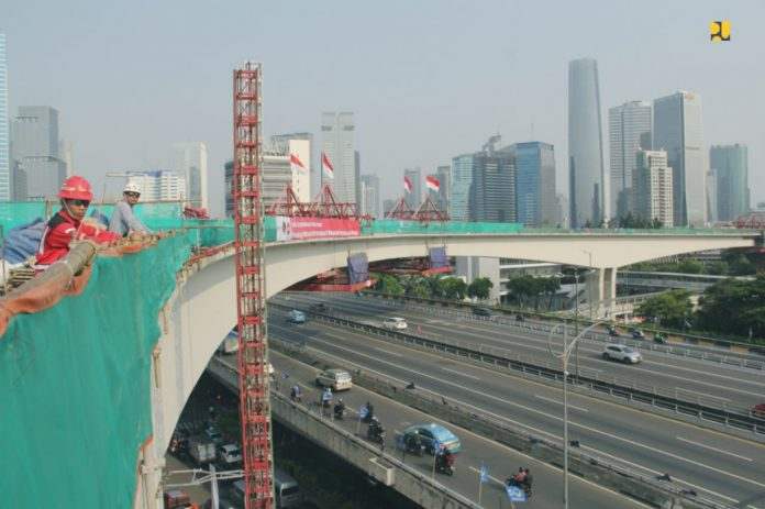jembatan lengkung lrt terpanjang