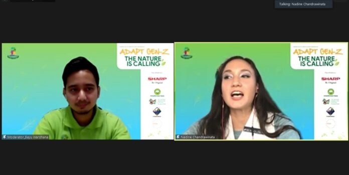 Salah satu pembicara tamu sharp webinar yang dihadirkan adalah Nadine Chandrawinata