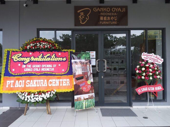 Ganko Oyaji buka toko pertamanya di Indonesia, yang berlokasi di Tangerang Selatan