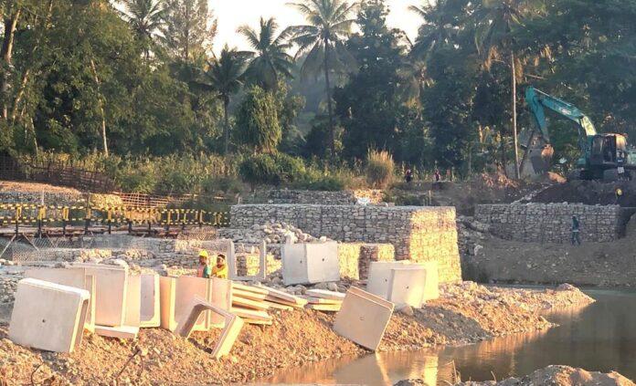 Pembangunan Jembatan Benanain di Malaka