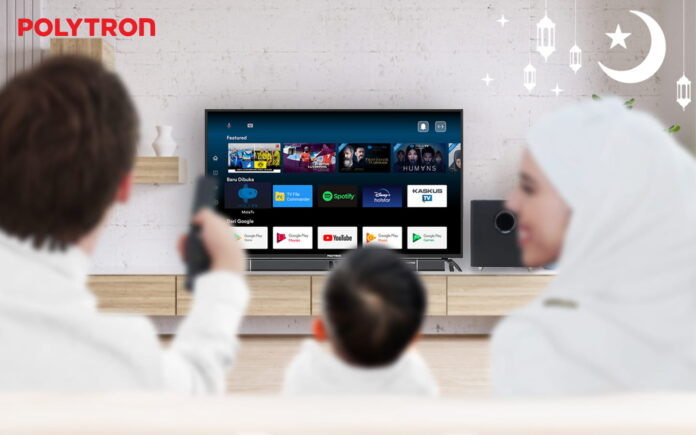 Smart Cinemax Soundbar Android TV dari Polytron