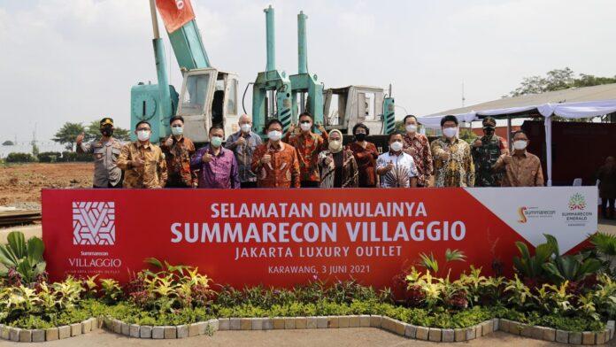 groundbreaking Summarecon Villaggio Jakarta Luxury Outlet