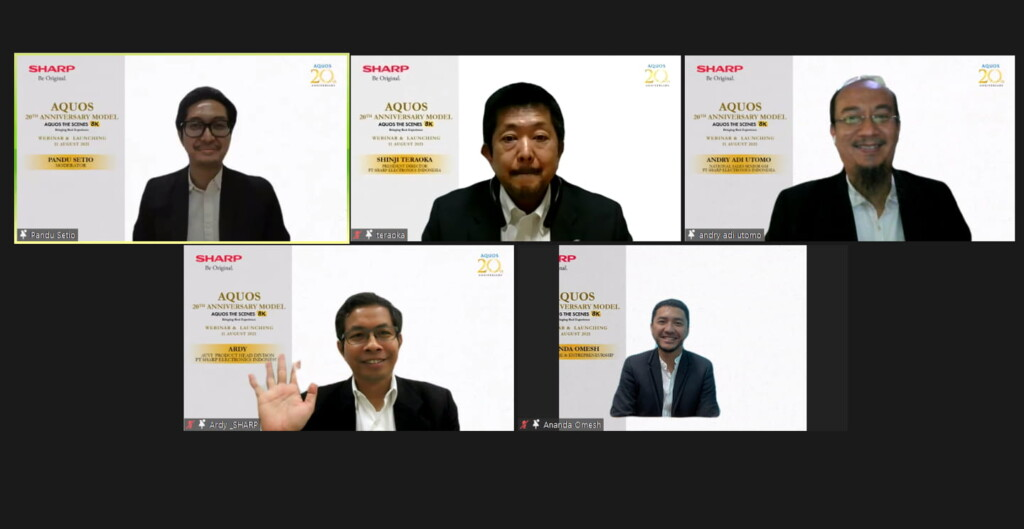 Sesi Talkshow Webinar & Launching Sharp AQUOS 20th Anniversary