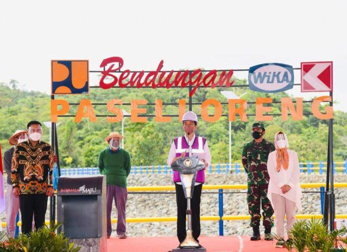 Presiden Jokowi resmikan Bendungan Paselloreng
